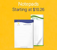 Notepads at Eastvale Graphics start at 10.26