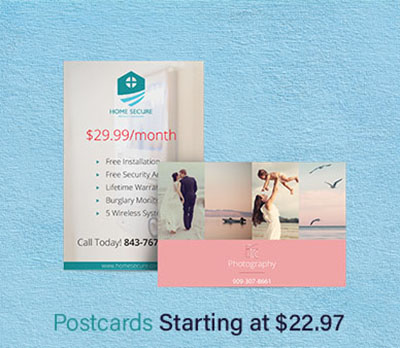 Postcards at Eastvale Graphics start at 22.97